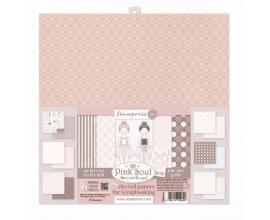 Kit de 6 papeles de Stamperia diseñados por Marisa Bernal- Pink Soul