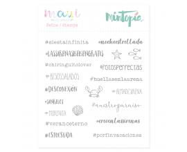 Sello de tamaño 10,5x10,5 cm. de Mintopia - Hashtags de Sirena