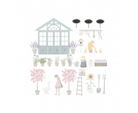 Scrapbook papel de doble cara de Sra. Granger col. My Garden diseñada por Pili Sallent - 002