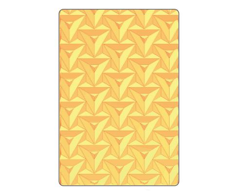 Placa de textura 3D Textured Impressions Prism Geometrics