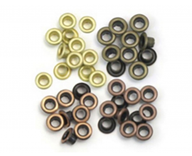 Kit de 60 eyelets de WeR Memory Keepers - Standart colores metalizados cálidos