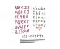 Kit de 4 Troqueles Thinlits de Sizzix Doodle alphabet y numbers by Sophie Guilar